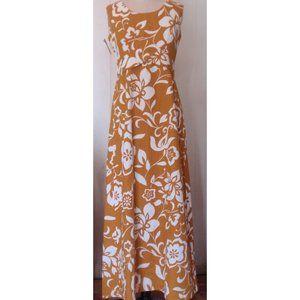 VINTAGE 1960'S HAWAII MUSTARD YELLOW MAXI DRESS